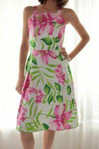 Red Floral Dress By Isaro