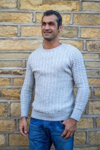 Grey Knitted Wool Jumper