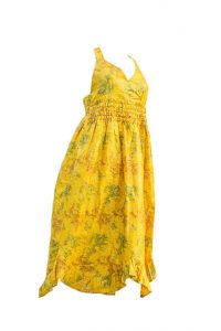 Isaro Yellow and Green Print Dress