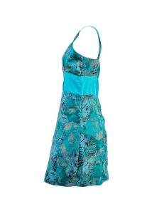 Turquoise Colour Ladies Dress By Isaro
