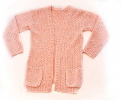 Knitted card pink