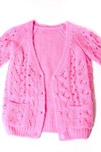 Isaro Girl Pink Cardigan