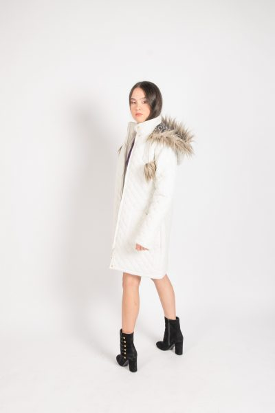 Womens Fury Hood White Jacket