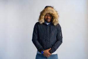 Fury Hood Navy Jacket