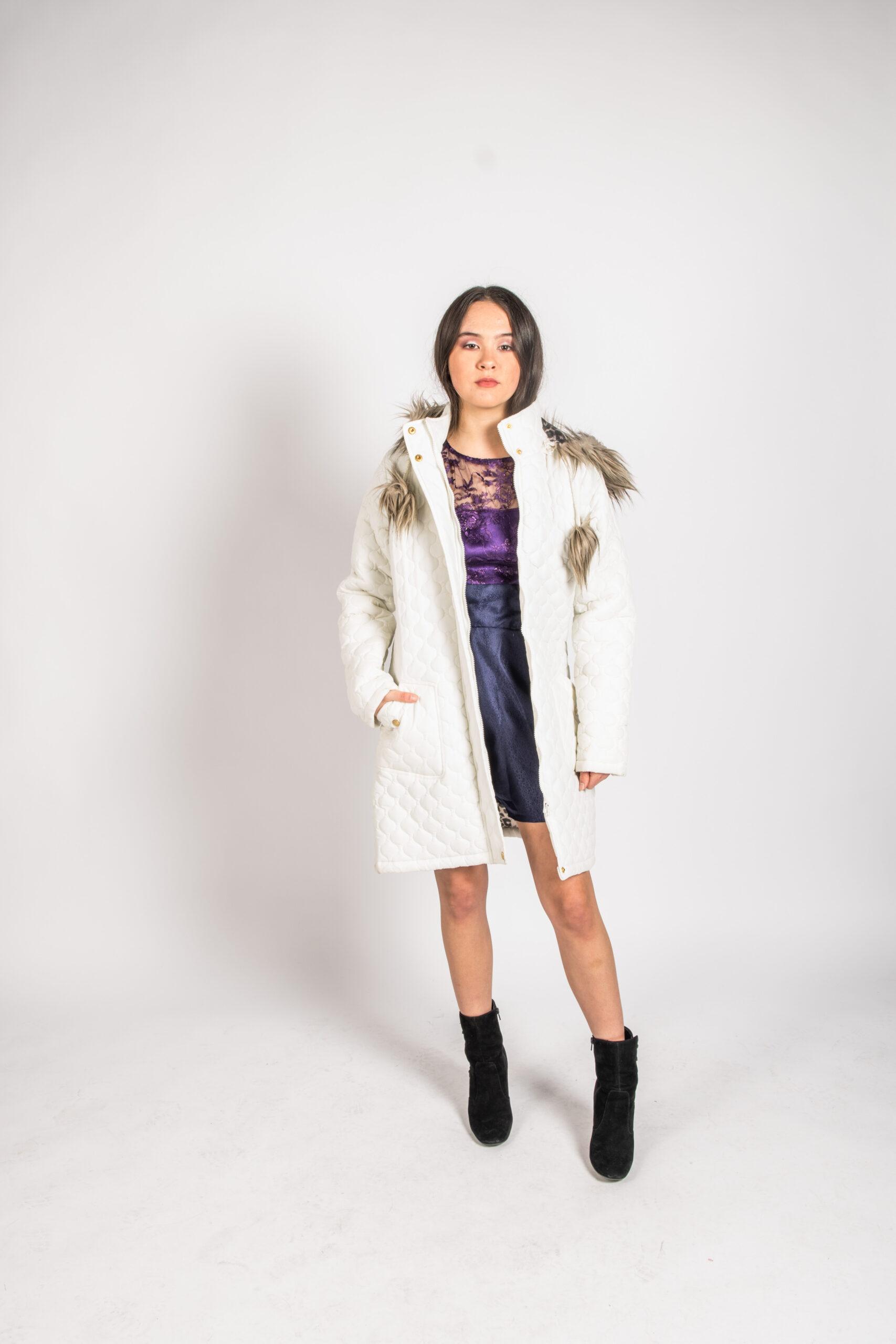 Womens Fury Hood White Jacket