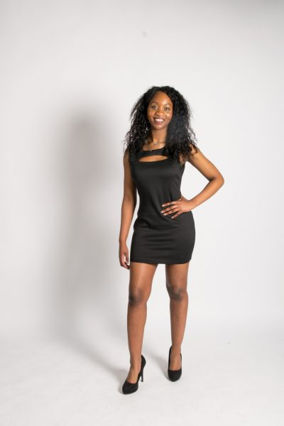 Black mini bodycon dress