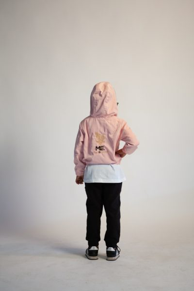 Pink Hoody/Black Joggers with Gold Feature