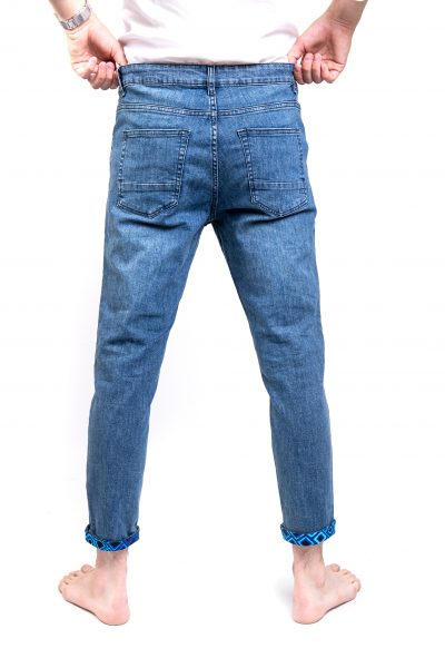 Blue Ripped Slim Stretch Jeans