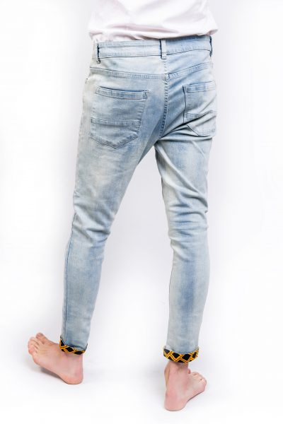 Distressed Light Blue Skinny Jeans