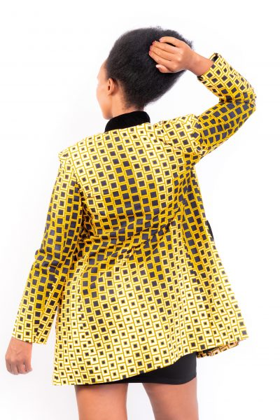 Black & Gold Diamond Print Jacket