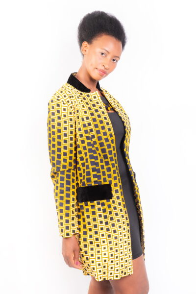 Isaro Identity Collection Gold Print Jacket Front