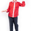 Isaro Fusion Collection Spring Red Silk Ladies Blouse Front