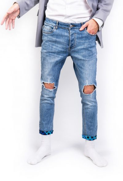 Stonewash Ripped Jeans Front