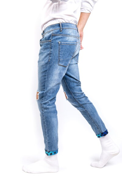 Stonewash Ripped Jeans Side