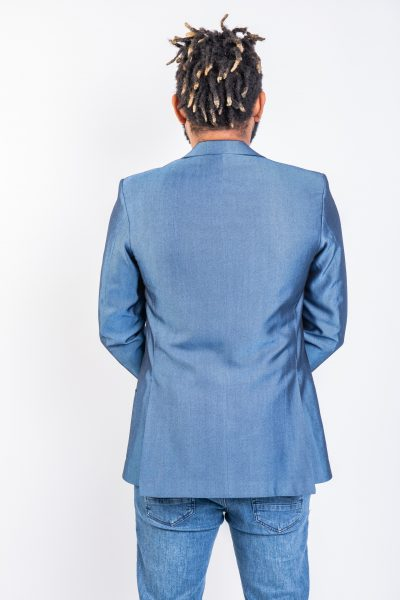 The Ash Single Breasted Jacket Blue