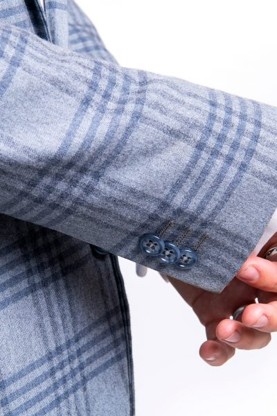 The Ash Single Breasted Grey Stripes Suit
