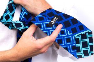 Blue Black Diamond Logo Tie