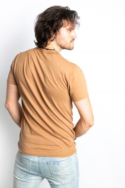 Dark Brown Crew Neck Short Sleeve T-Shirt