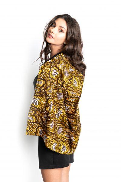 Leopard Print Hip Length Jacket
