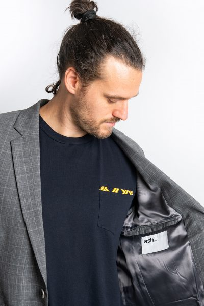The Ash Single Breasted Jacket Grey