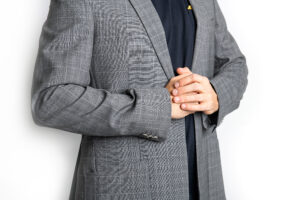 The Ash Single Breasted Wool Jacket Grey