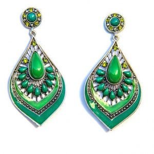 Isaro Green Drop Earrings