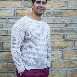 Cream Knitted Men's Jumper