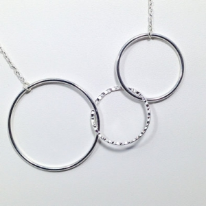 Stainless Steel Three Hold Necklace
