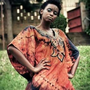 Brown Tie Dye African Print
