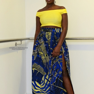 Maxi Skirt in African Fabric
