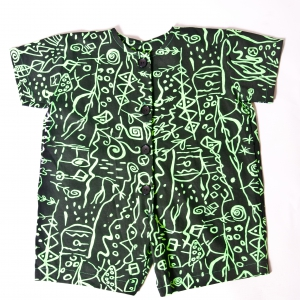 Black/Lime Green Rompers by Isaro. Girls 1-4yrs
