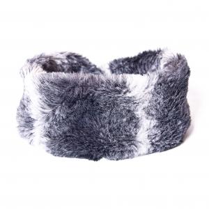 Dark Grey Sheepskin Headband